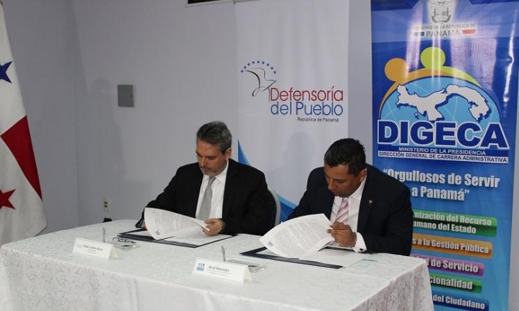 Convenio de Cooperación Interinstitucional entre la Defensoría del Pueblo y la DIGECA